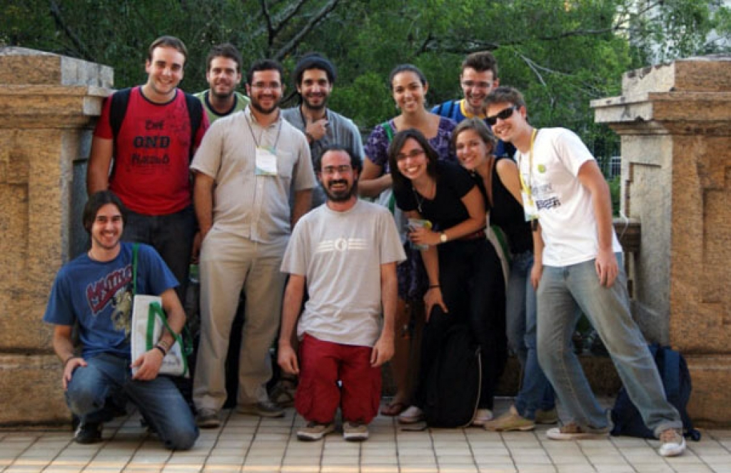 PaleoLab team (without Max) during the VII SBPV, Rio de Janeiro (2010)